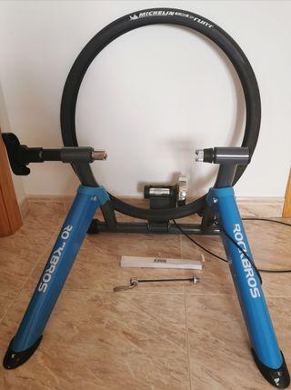 Rodillo Rockbros, Cubierta Michelin, Eje rueda