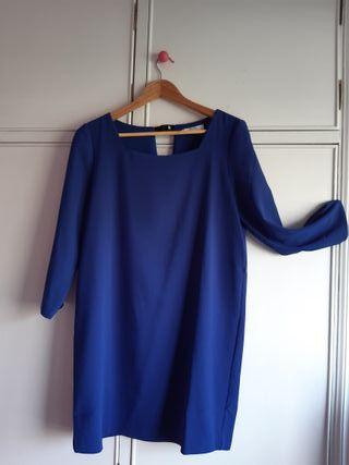 Vestido Mango azulón.