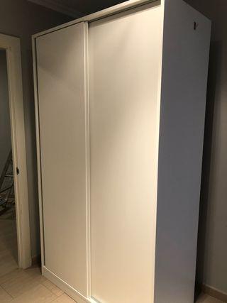 Armario madera blanco, 2 puertas