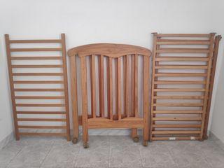 Estructura cuna de madera + colchón