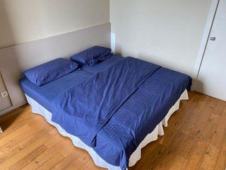 Cama con colchón (180x200cm, 2 camas individuales)