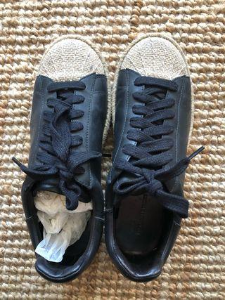 Zapatillas de piel negras Alexander Wang