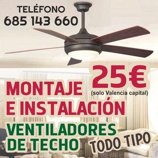 montaje de ventiladores