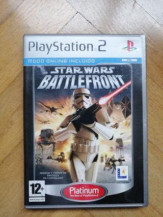 PlayStation 2 juego Star Wars Battlefront 1
