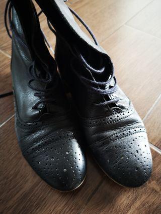botines barceló negros