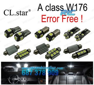 KIT COMPLETO DE 19 BOMBILLAS LED INTERIOR MERCEDES