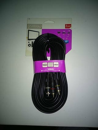 Cable audio/vídeo Evology.RCA 10 metros.