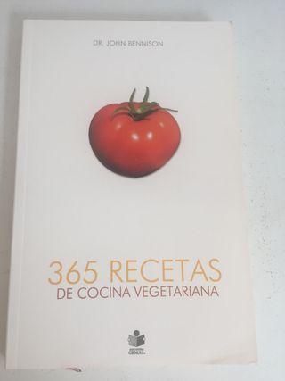 Libro 365 recetas cocina vegetarianas