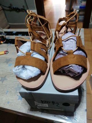 sandalias de piel de. ante n 39