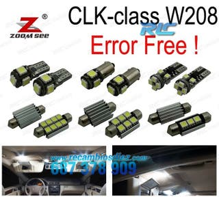 KIT COMPLETO DE 16 BOMBILLAS LED INTERIOR MERCEDES