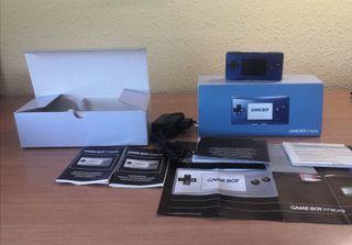 Game Boy Micro azul+juegos y accesorios