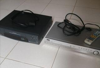 Reproductor DVD y vídeo VHS. Se venden juntos.