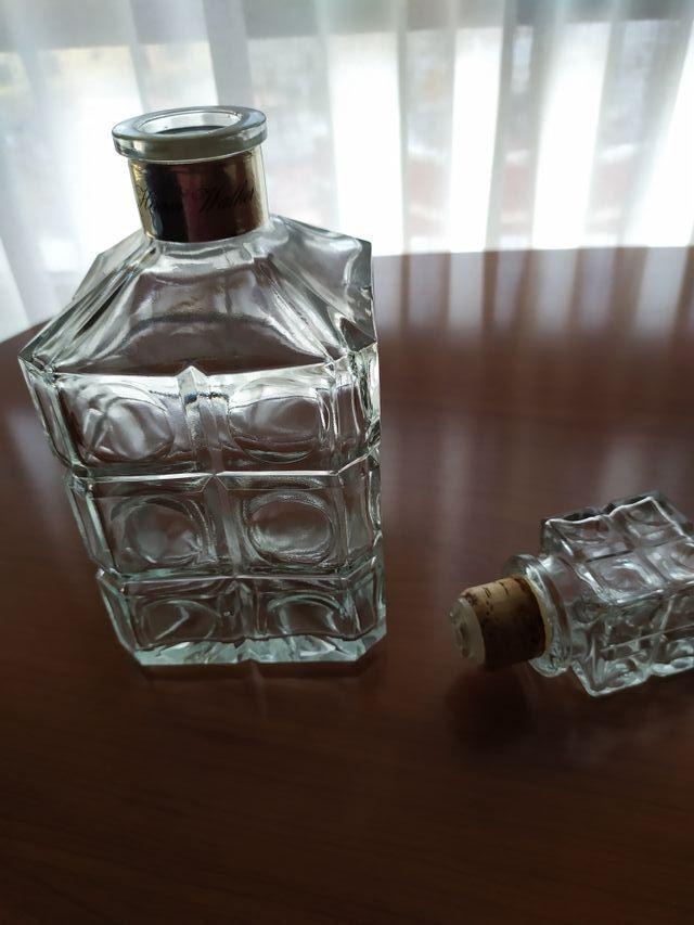 Botella whisky cristal antigua