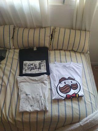 Tres camisetas talla L