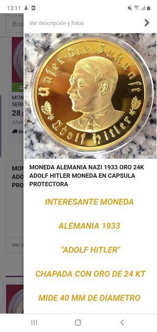 moneda commemorativa adolf hitler