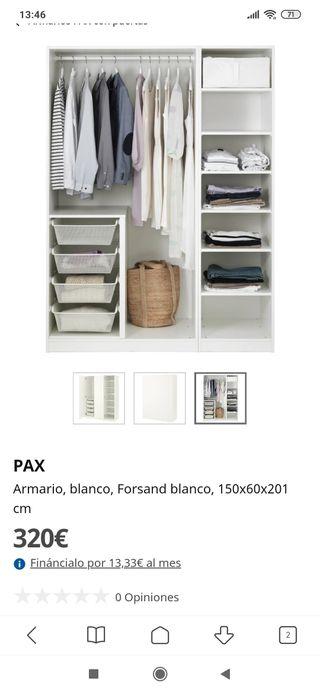 Armario Ikea Forsand blanco