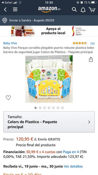 Parque para niño plástico