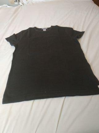 camiseta de algodón en negra talla L