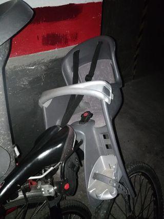 Silla bici portabebes niño niña
