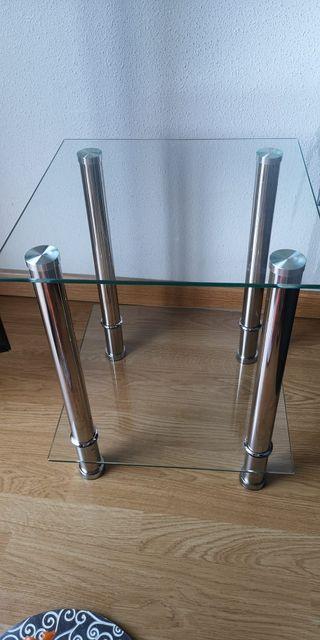 Mesa supletoria de cristal