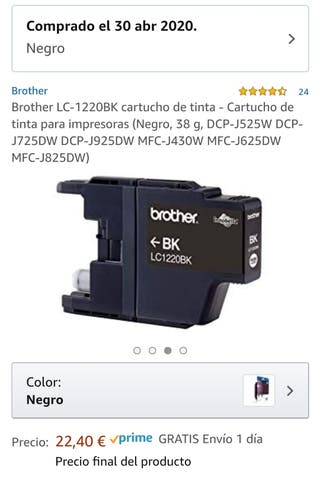 Cartucho Impresora Brother LC1220BK