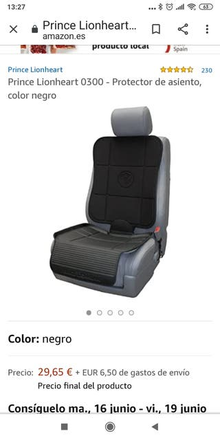 Protector asiento coches