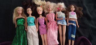 muñecas Barbie, sindys, princesas