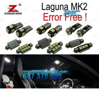 KIT COMPLETO DE 18 BOMBILLAS LED INTERIOR RENAULT