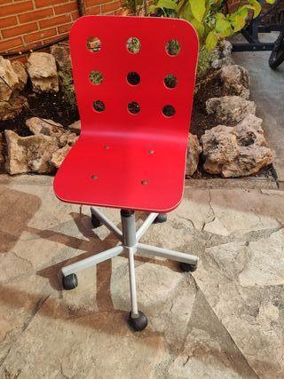 Silla escritorio juvenil roja Ikea