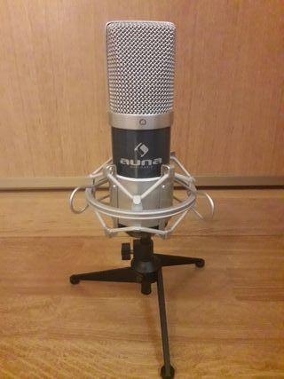 Micrófono de condensador USB Auna MIC-900BL