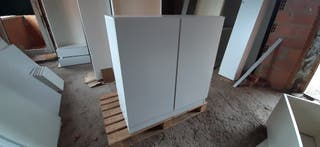 Armario madera 2 puertas color blanco