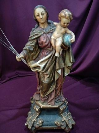 Escultura religiosa, Virgen con niño S.XIX
