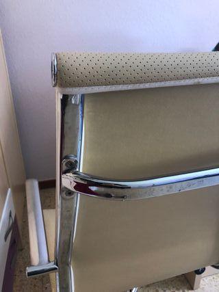 Silla de escritorio usada, buen estado, aluminio