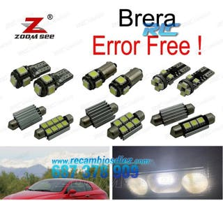 KIT COMPLETO DE 8 BOMBILLAS LED INTERIOR ALFA ROME
