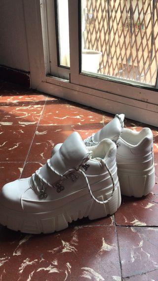 Bambas Bershka Plataforma alta, sneakers