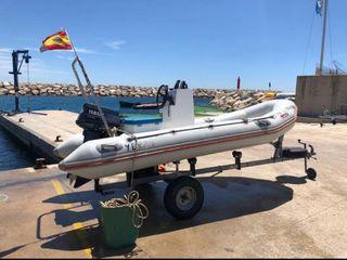 Barca, barco, lancha, valiant 380, semi rigida