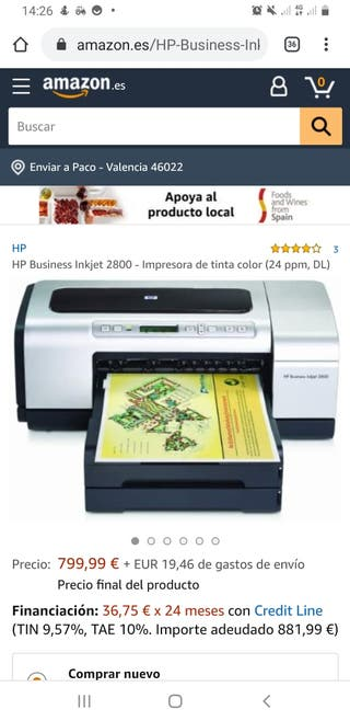 HP Business Inkjet 2800 URGE VENTA