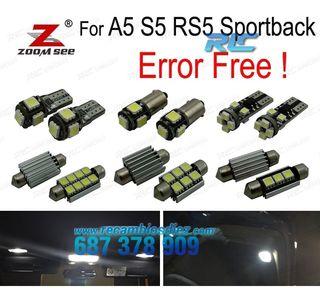 KIT COMPLETO DE 20 BOMBILLAS LED INTERIOR AUDI A5