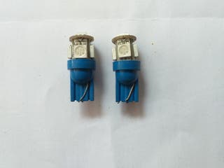 Bombillas led T-10 W5W 5 SMD Azul