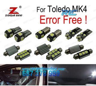 KIT COMPLETO DE 11 BOMBILLAS LED INTERIOR TOLEDO M