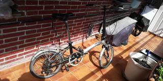 bici plegable monty con marchas shimano