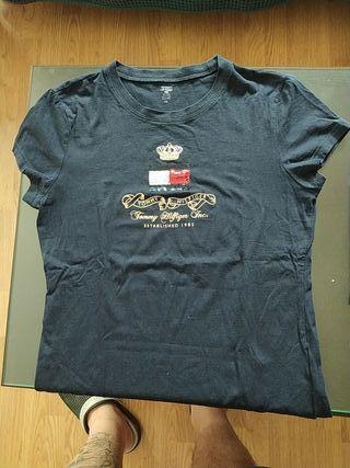 camiseta negra de chica Tommy Hilfiger talla L