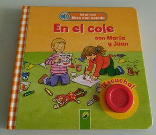 """Libro infantil """"En el cole con María y Juan"""""""