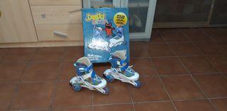 Se venden patines infantiles + protecciones.