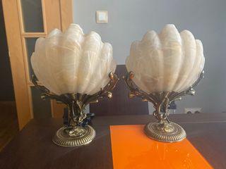 Lámpara concha natural