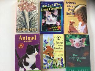 6 English language books young reader animals