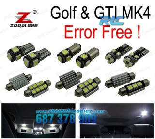 KIT COMPLETO DE 15 BOMBILLAS LED INTERIOR VW VW GT