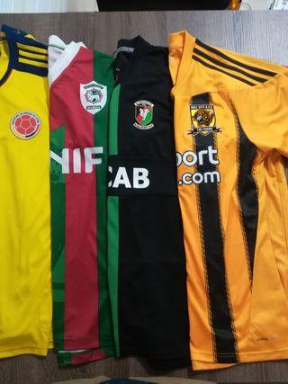 Pack 4 camisetas fútbol