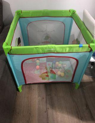 parque de bebe cuadrado