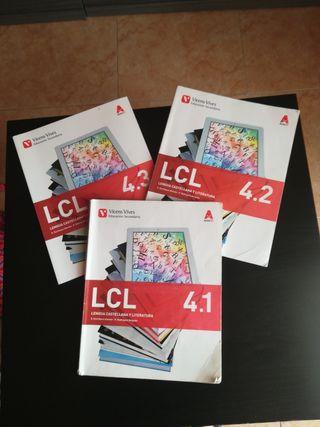 3 libros de lengua 4 ESO